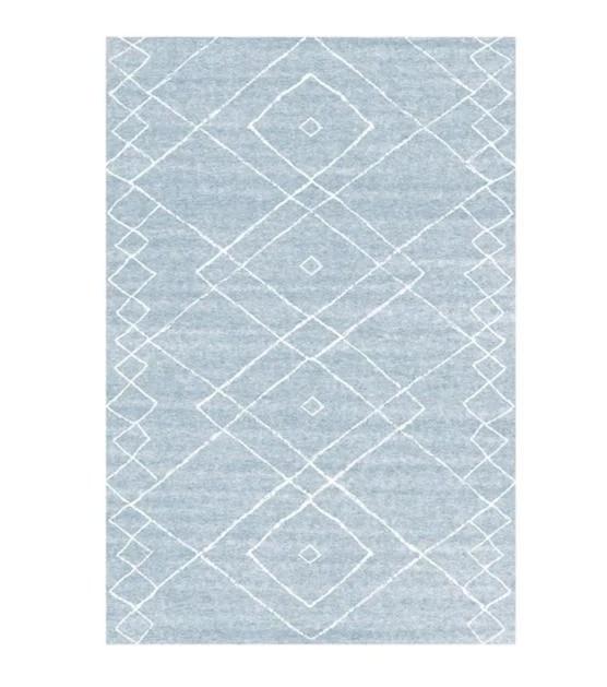 tapis moderne scandinave bleu gris inspiration berbere