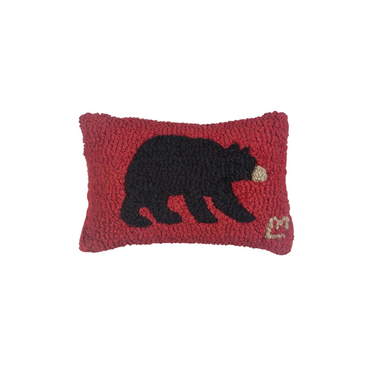 black bear pillow 8x12