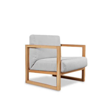 fauteuil chene brut cube raw