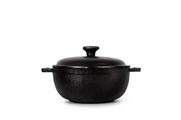 THE CHEF COLLECTION – Cocotte ronde, fonte naturelle non émaillée, pour cuisiner naturellement avec le goût authentique des aliments, 0.5 L,13,5x13,5x6,0 cm