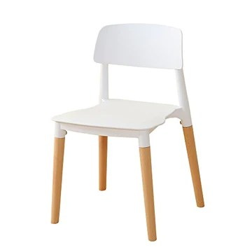interougehome Lot de 2 chaises scandinaves Modernes avec Pieds en Bois - Blanc, Lot de 2 chaises scandinaves Design Retro