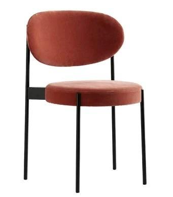 Slu17 Chaise de Salle à Manger Moderne Chaise de Velours Chaise de Designer Chaise de Dossier Chaise de Petit-déjeuner (Couleur : Orange)