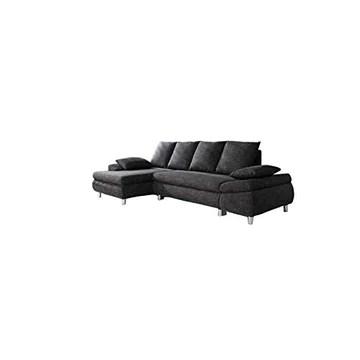 Relaxima Naho canapé Convertible lit + Coffre Angle Gauche 4 Places Gris Anthracite