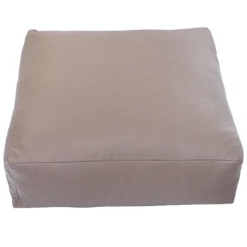 Faux Leather XL Latte Brown Beige Slab Footstool Pouffe Bean Bag with Filling by Bean Bag Warehouse