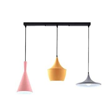 RUIXINBC Moderne Suspension Luminaire Macaron Lustre, Nordic Creative Light Restaurant Au Plafond, Cafe Bar Table Trois Abat Plafond,2
