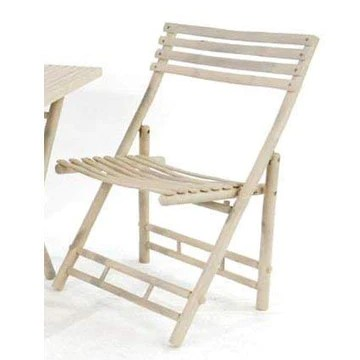 Chaise en bambou naturel h : 89 cm l x p) : 54 x 51 cm-matière naturelle