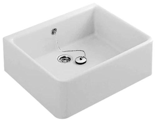Blanco - Évier de cuisine - Evier à poser céramique blanc TARGA 1 bac 600 x 500