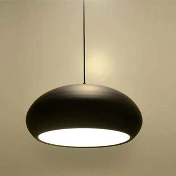 QCKDQ Luminaire de Celling, Lustre Semi-Circulaire Principal à Une Seule tête de Macaron, Lampe de décoration de Bar à la Maison créative, Convenable pour Vivre/dîner/café,Black,45cm