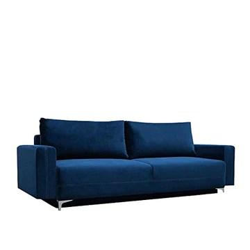 E-MEUBLES Canapé lit Convertible Salon Relax Noveau scandinave Design Revêtement de Canapé Melisa (Bleu foncé)