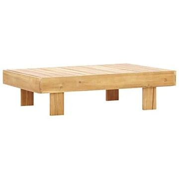 Goliraya Table Basse Bois d'Acacia Solide et Durable Style Vintage 100x60x25 cm