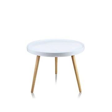 Designetsamaison Table Basse de Salon Blanche - Pristina