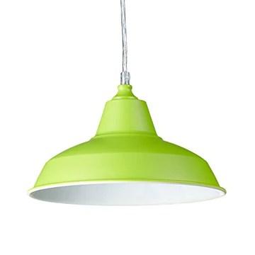 Relaxdays Suspension luminaire lampe à suspension abat-jour en métal couleur pétante HxlxP: 112 x 28 x 28 cm style industriel hauteur réglable, vert