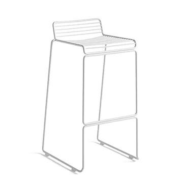mds La Chaise Haute HEE par Hay VIT Aussi Bien Indoor qu'outdoor - Blanc - Hauteur d'assise 65 cm