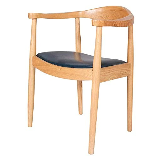 jieer c chaise chambre a coucher dossier incurve accoudoir plat large structure bois massif capacite charge elevee 3 styles 48x42x76cm couleur c