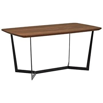Marque Amazon - Rivet - Table de salle à manger au style industriel, largeur 160 cm, Noyer