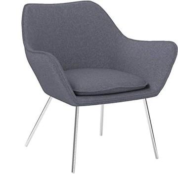 CLP Fauteuil Lounge Design Caracas Tissu I Chaise Confortable Assise et Dossier rembourrés Accoudoir I Fauteuil de Salon Piètement en Métal Gris Foncé