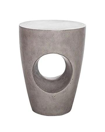 Meubletmoi Tabouret décoratif en béton perforé - Bout de canapé - mobilier Sculpture Design Original et Unique - Style Moderne Contemporain