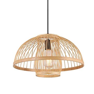 XDDXIAO Lampe Suspendue De Mode Vintage, Lampe De Poche Manuelle Créative en Bambou, Adaptée À Divers Luminaires Suspendus pour Site (sans Ampoule)
