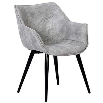 WOLTU 1 X Chaise de Salle à Manger rembourrée en Tissu Scientifique Pieds en métal,Chaise pour Chambre Chaise de Salle de réception,Gris Clair BH99hgr-1