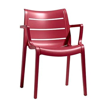 arredinitaly – Lot de 4 fauteuils pour extérieur et intérieur en tecnopolimero – Rouge – 100% Made in Italy