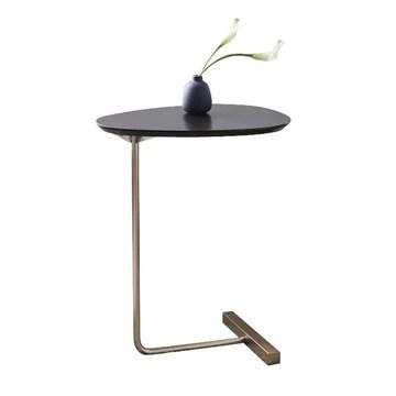Tables Basses Table D'appoint Table d'angle en Fer Forgé Canapé Table D'appoint Table D'étude Simple Salon Petite Table Basse (Color : Black, Size : 40 * 30 * 60cm)