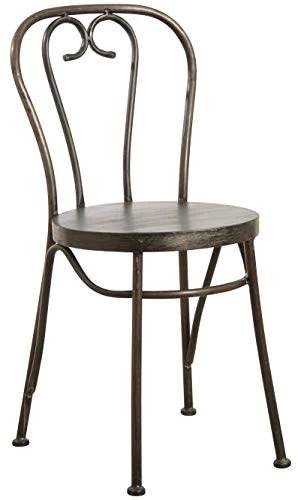 Chaise bistrot en métal noir antique