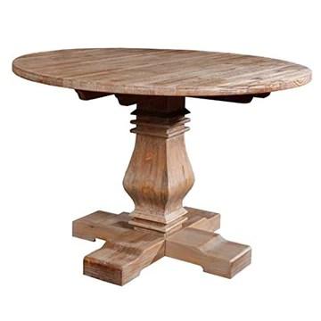 Vintahome Table de salle à manger Colonial Bois de pin 120 Eleonora