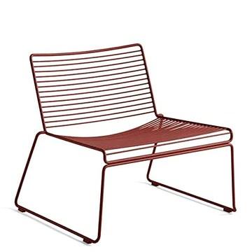 mds La Chaise Lounge HEE par Hay, Le Confort dans Ses Grandes largeurs - Rouge Rouille