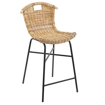 Tobs Tabouret de Bar en rotin Naturel