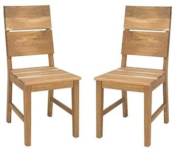 Artigiani Veneti Riuniti Mike Ensemble de chaises en chêne Massif