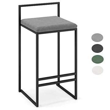 GYPPG Chaise Elegant Home Dcor Accueil Meubles Salon Tabouret Bar Chaises avec Repose-Pieds pour pub, comptoir, Cuisine, Velours et Fer en métal - Design Moderne 4 Couleurs