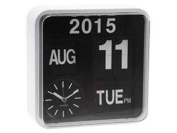 Karlsson - KA5364WH - Horloge calendrier flip flap - murale - blanc