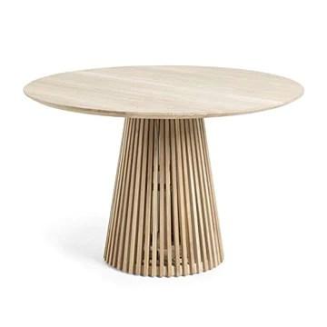 Générique Table à Manger Ronde 120 cm en Teck Massif Naturel Ariana - L 120 x l 120 x H 78