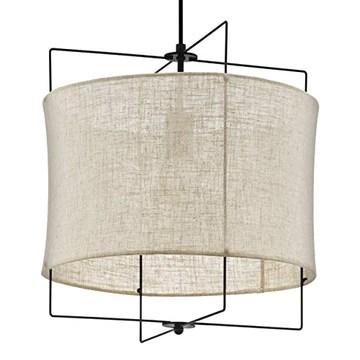 Eglo Lampe Noir Suspension 1 ampoule Ø 40 cm Noir