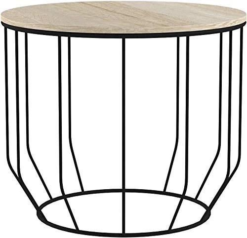 lifa living table gigogne bois et metal ronde table basse design bois en lot de 2 petite table basse gigogne scandinave tables d appoint pour