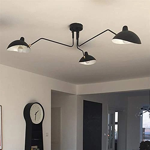Haute qualité Pendant Light Retro Serge Mouille Pendentif Nordic Lights Industrielle Simple LED araignée réglable Lampe Salon Chambre Lampe Industrielle Luminaire Beau et élégant