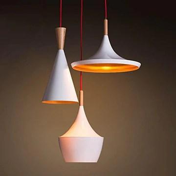 TYDXSD Vintage industriel bar lumières restaurant fer nordique lumière créative instrument 3 suspension de lampe étude Cafe 500×1000mm , white