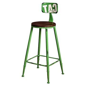 Tabourets De Bar Tabourets De Bar Cuisine - Tabouret De Bar Style Industriel RéTro avec Dossier Haut Et Tabourets De Bar-Vert
