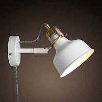 FJTXC EXQUIS APPLIQUE MUR BLANC LAMPE DE CHEVET, RÉTRO STEADY