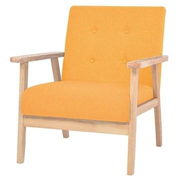 vidaXL Fauteuil Tissu Chaise de Salon Meuble Mobilier de Chambre à Coucher
