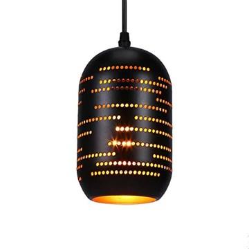 Asvert Suspension Luminaire Industrielle Vintage Ajouré Noir Lustre Industriel Percé Abat-jour en Métal E27 Lampe de Plafond pour Maison Salon Restaurent Loft Bar [Classe énergétique A++]