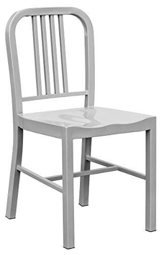 Febland Chaise de Salle à Manger en métal Bleu Marine Argent, en métal