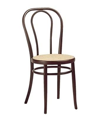 F.T. Chaise modèle restaurant structure en métal assise imitation paille, comme sur la photo, lot de 2 pièces.
