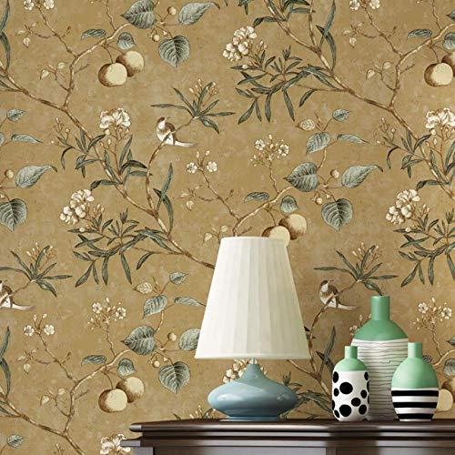 Style européen rétro PVC imperméable à l'eau non tissé papier peint salon chambre décoration de la maison papel de parede