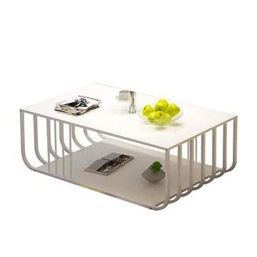 en Bois Petite Table À Thé De Style Industriel Créatif Table Basse Américaine Simple Salon Moderne Fer Rétro W1/11 (Color : A)