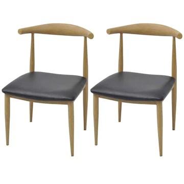 binzhoueushopping chaises pour Salon, DE Salle à Manger Noires, Cuir Artificiel,2 unités 50 x 52 x 78 cm