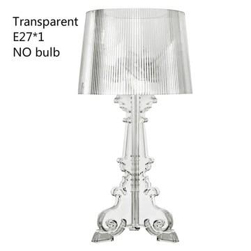 JHEY Lampe de Table en Acrylique Transparent Moderne et élégant Design Cristal Table de Chevet Lampes for Chambre Salon (Color : D)