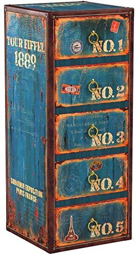 ts-ideen Armoire Antique Vintage Livre Design 30 cm x 73 cm Shabby Style affligé