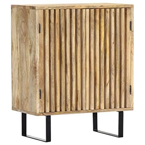 tidyard buffet en bois de manguier massif solide et durable style naturel 60 x 35 x 75 cm