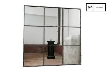 Pomax Miroir Industriel carré 9 Sections